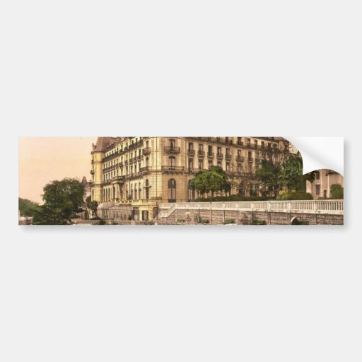Promenade and Grand Hotel Gassion, Pau, Pyrenees, Bumper Stickers