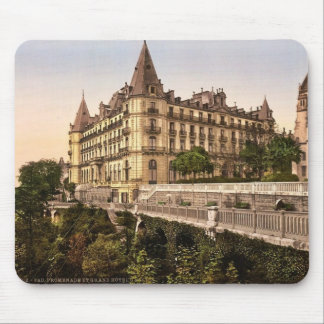 Promenade and Grand Hotel Gassion, Pau, Pyrenees, Mouse Pad