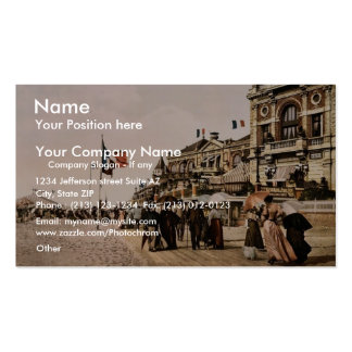 Promenade and grand Salon, Trouville, France class Double-Sided Standard Business Cards (Pack Of 100)
