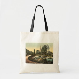 Promenade and St. Genieve Church, Mulhausen, Alsac Bag