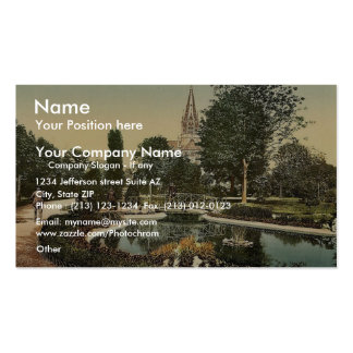 Promenade and St. Genieve Church, Mulhausen, Alsac Double-Sided Standard Business Cards (Pack Of 100)