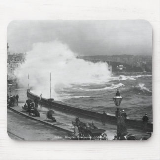 Promenade at Douglas, early 20th century Mouse Pad
