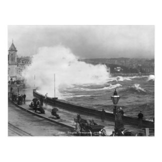 Promenade at Douglas, early 20th century Postcard