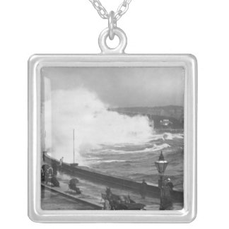 Promenade at Douglas, early 20th century Silver Plated Necklace