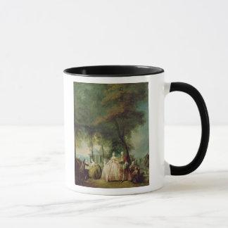 Promenade at Longchamp, c.1760 Mug