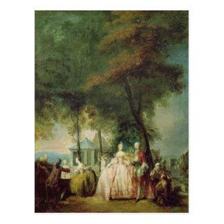 Promenade at Longchamp, c.1760 Postcard