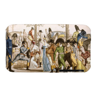 Promenade at Longchamps, 1802 (engraving) Case-Mate iPhone 3 Cases