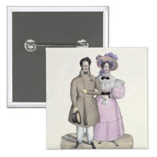 Promenade Bourgeoise Pinback Buttons