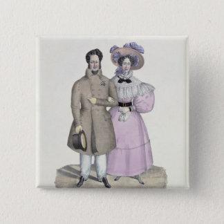Promenade Bourgeoise Pinback Button