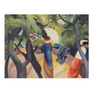 Promenade by August Macke Post Cards