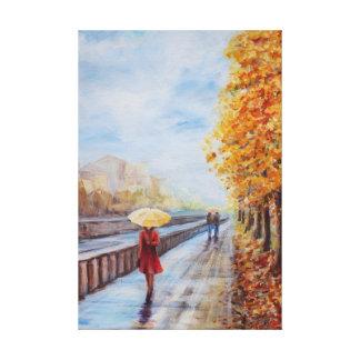 """""""promenade"""" con un paraguas impresiones de lienzo"""