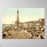 """promenade"" de Blackpool, Lancashire, Inglaterra Póster"