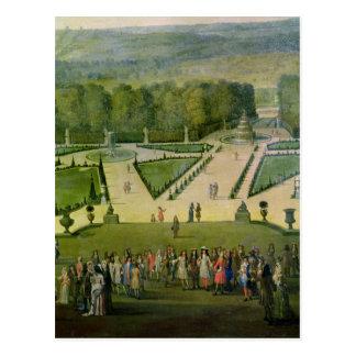 """""""promenade"""" de Louis XIV por el Parterre du Nord Postal"""