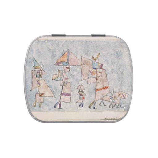 """""""promenade"""" de Paul Klee- en el Oriente Frascos De Caramelos"""