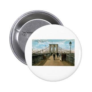 """""""promenade"""" del puente de Brooklyn, New York City Pin"""
