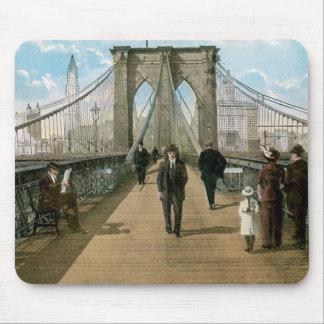 promenade del puente de Brooklyn New York City Tapete De Ratón