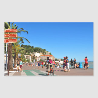Promenade des Anglais Rectangular Sticker