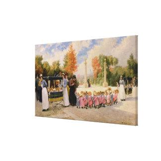 Promenade des Enfants Canvas Print