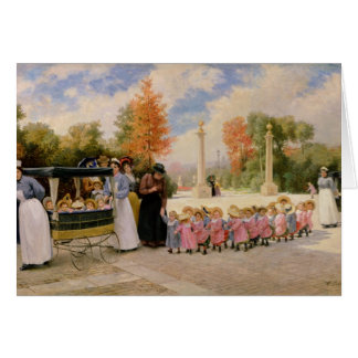 Promenade des Enfants Greeting Card