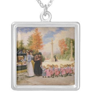 Promenade des Enfants Silver Plated Necklace