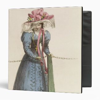 Promenade Dress, fashion plate from Ackermann's Re 3 Ring Binders