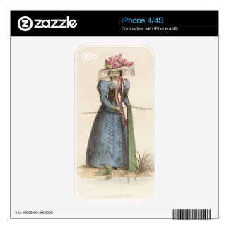 Promenade Dress, fashion plate from Ackermann's Re Decals For iPhone 4S
