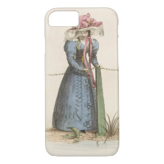 Promenade Dress, fashion plate from Ackermann's Re iPhone 7 Case