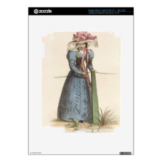 Promenade Dress, fashion plate from Ackermann's Re Skin For iPad 3