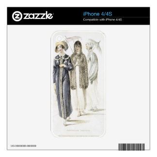 Promenade dresses, fashion plate from Ackermann's iPhone 4S Skins