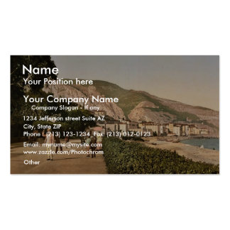 Promenade du midi, Mentone, Riviera classic Photoc Double-Sided Standard Business Cards (Pack Of 100)