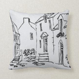 Promenade du Ruicard | La Roche-Bernard, Brittany Throw Pillow
