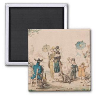 """""""promenade"""" en el Champs-Elysees, 1811 Imán Cuadrado"""
