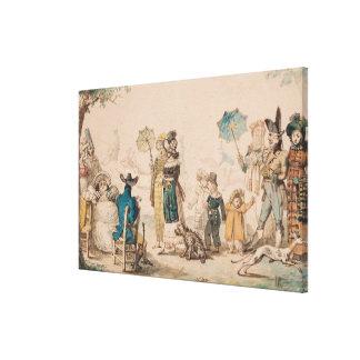 """""""promenade"""" en el Champs-Elysees, 1811 Lienzo Envuelto Para Galerias"""
