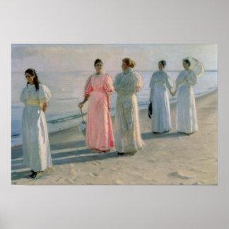 """""""promenade"""" en la playa póster"""