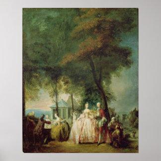 """promenade"" en Longchamp, c.1760 Póster"