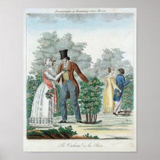 """""""promenade"""" en los Fontenay-aux.-Rosas Póster"""