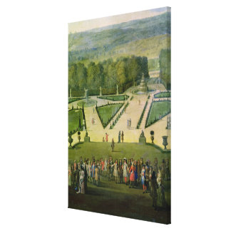 Promenade of Louis XIV by the Parterre du Nord Canvas Print