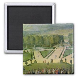 Promenade of Louis XIV by the Parterre du Nord Refrigerator Magnets