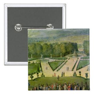 Promenade of Louis XIV by the Parterre du Nord Pinback Button