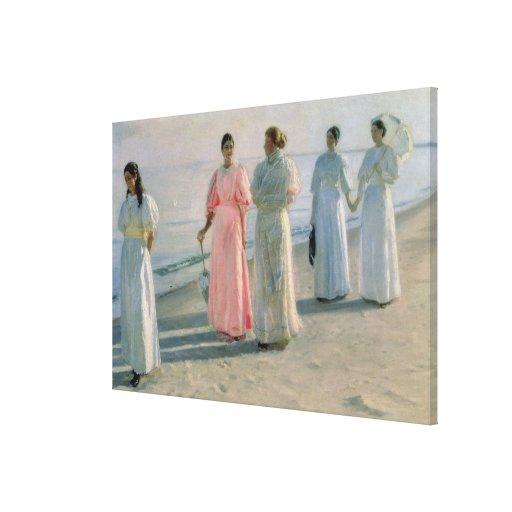 Promenade on the Beach Canvas Print