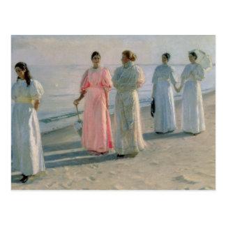 Promenade on the Beach Postcard