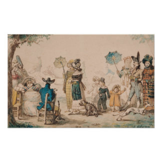 Promenade on the Champs-Elysees, 1811 Poster