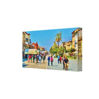 Promenade Parade, Viareggio, Wrapped Canvas Print
