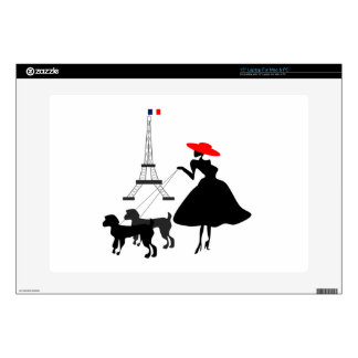"Promenade with Dogs Decals For 15"" Laptops"