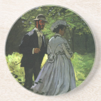 Promenaders by Claude Monet, Vintage Impressionism Coaster