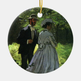 Promenaders by monet vintage impressionism art christmas for Engagement christmas tree ornaments