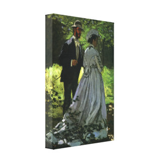 Promenaders de Monet, arte del impresionismo del v Impresión En Lienzo Estirada