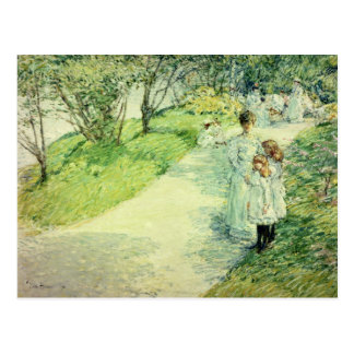 Promenaders en el jardín 1898 tarjetas postales
