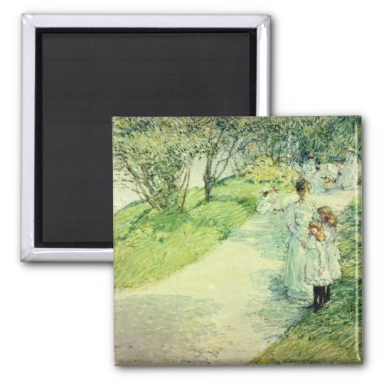 Promenaders in the garden, 1898 magnet