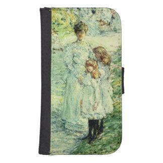 Promenaders in the garden, 1898 phone wallet